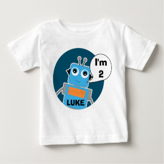 Camiseta personalizada del robot del cumpleaños remera