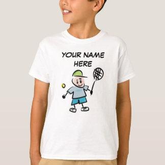Camiseta personalizada del tenis de los niños