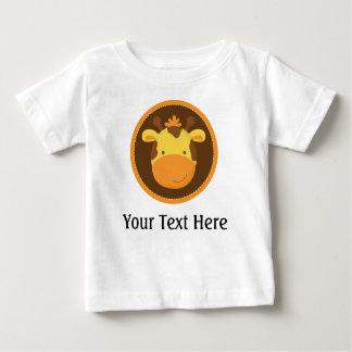 Camiseta personalizada jirafa del bebé