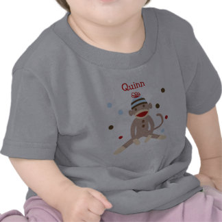 Camiseta personalizada mono del cumpleaños del cal