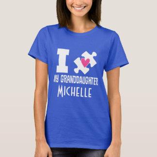Camiseta personalizada nieta de la conciencia del