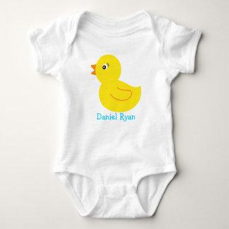 Camiseta personalizada pato Ducky de goma del bebé Playera