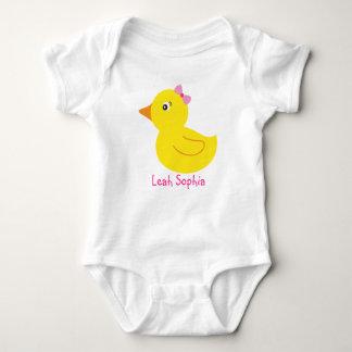 Camiseta personalizada pato Ducky de goma del bebé Playeras