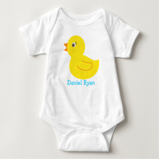 Camiseta personalizada pato Ducky de goma del bebé Remeras