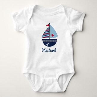 Camiseta personalizada velero lindo del bebé