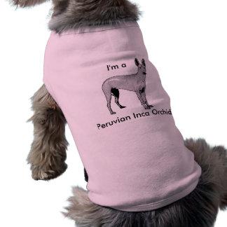 Camiseta peruana de la orquídea del inca playera sin mangas para perro