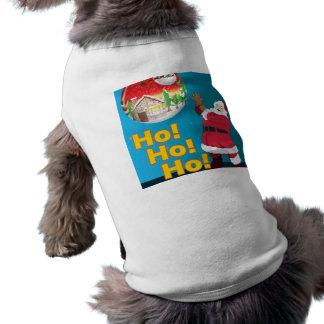 "Camiseta Pet ""Hohoho"" Playera Sin Mangas Para Perro"
