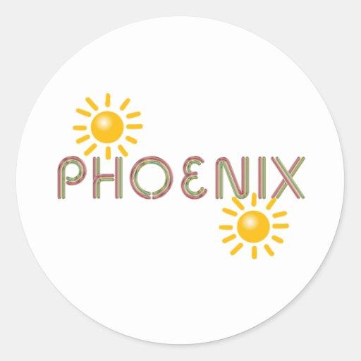 CAMISETA Phoenix Pegatina Redonda