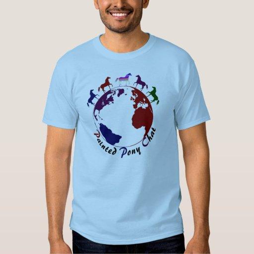 Camiseta pintada del registro del potro playera