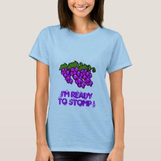 Camiseta pisada fuerte fresca de las uvas