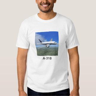 Camiseta plana de Airbus A318 Poleras