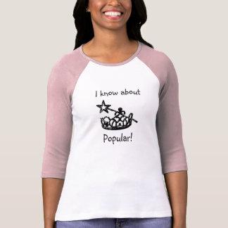 Camiseta popular del raglán de las señoras playeras