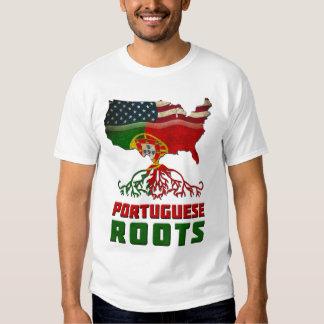 Camiseta portuguesa americana de las raíces remera