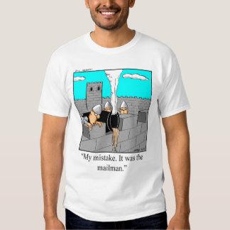 Camiseta postal divertida del cartero playeras