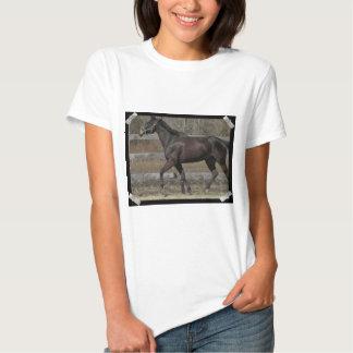 Camiseta Prancing excelente de las señoras Playera