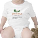 """Camiseta """"preciosa"""" anaranjada del bebé de la Guis"""