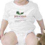 """Camiseta """"preciosa"""" roja del bebé de la Guisante-e"""