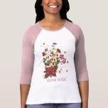 Camiseta presionada del ramo de la flor - Clematis