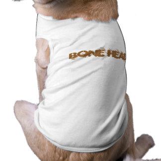 "Camiseta PRINCIPAL del perrito del ""HUESO"" Playera Sin Mangas Para Perro"