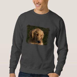 Camiseta principal del tiro del golden retriever sudadera con capucha