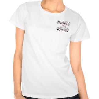 camiseta promocional del negocio elegante negro ro