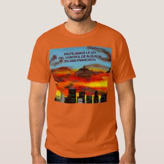 Camiseta - PROTEJAMOS LA LEY DEL CONTROL ALQUILER Playera