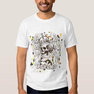 Camiseta psica del cráneo real playera