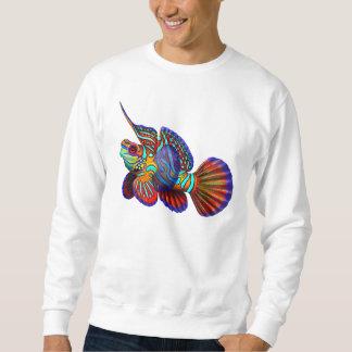 Camiseta psicodélica de los pescados del mandarín sudadera
