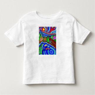 Camiseta psicodélica del niño del jardín playera