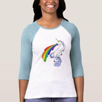 Camiseta Puking del arco iris del unicornio