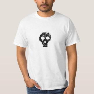 Camiseta punky del cráneo polera