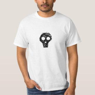 Camiseta punky del cráneo poleras