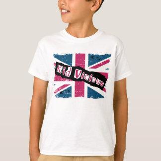 Camiseta punky viciosa del niño