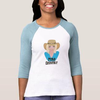 Camiseta pura de las señoras del país de GalPals