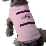 Camiseta púrpura Amethyst del mascota del personal Playera Sin Mangas Para Perro