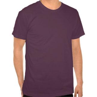 Camiseta púrpura apenada del símbolo de la radiaci