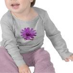 Camiseta púrpura del bebé de la margarita
