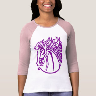 Camiseta púrpura del caballo