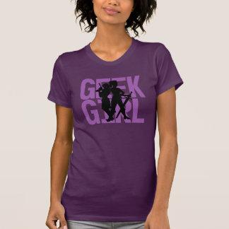 Camiseta púrpura del chica del friki