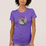 Camiseta púrpura del flor de Namaste Lotus