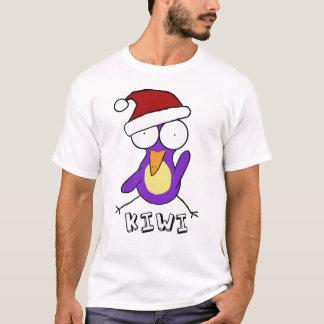 Camiseta púrpura del kiwi de Santa