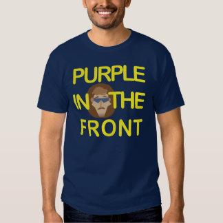 Camiseta púrpura del pelo del hockey de Roundy Playeras