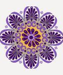 Camiseta púrpura del raglán de la mandala