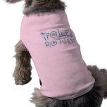 Camiseta putrefacta estropeada del mascota camisetas de perrito