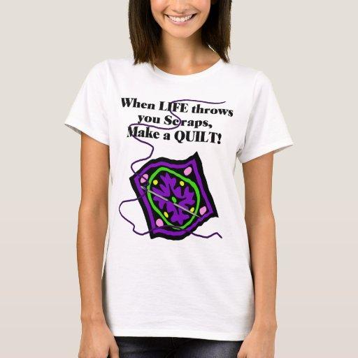 Camiseta que acolcha - la vida le lanza los