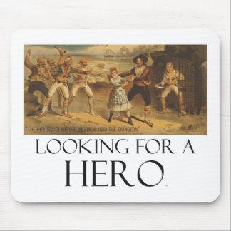 CAMISETA que busca a un héroe Alfombrillas De Raton