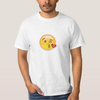Camiseta que se besa impresionante de Emoji