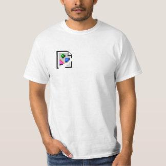 Camiseta quebrada del icono de la imagen playera