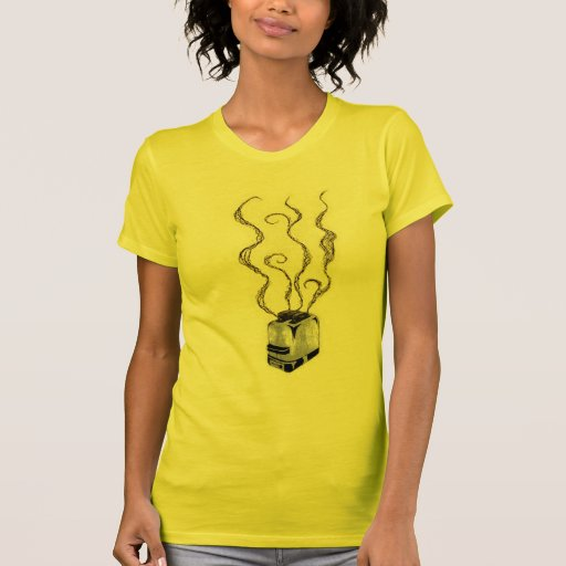 Camiseta quemada de las señoras