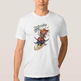 Camiseta radiactiva del blanco del aviador poleras